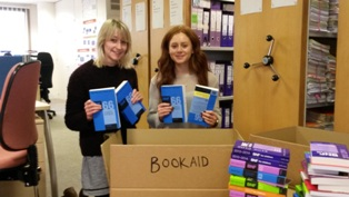 Packing books for charities