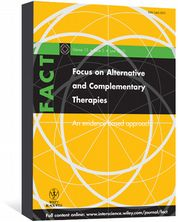 Focus on Alternative and Complementary Therapies Ernst, Edzard